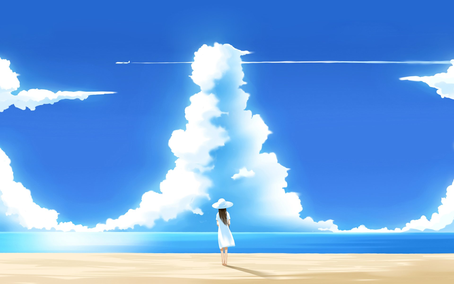 Anime Beach Background Images Pictures   Becuo 1920x1200