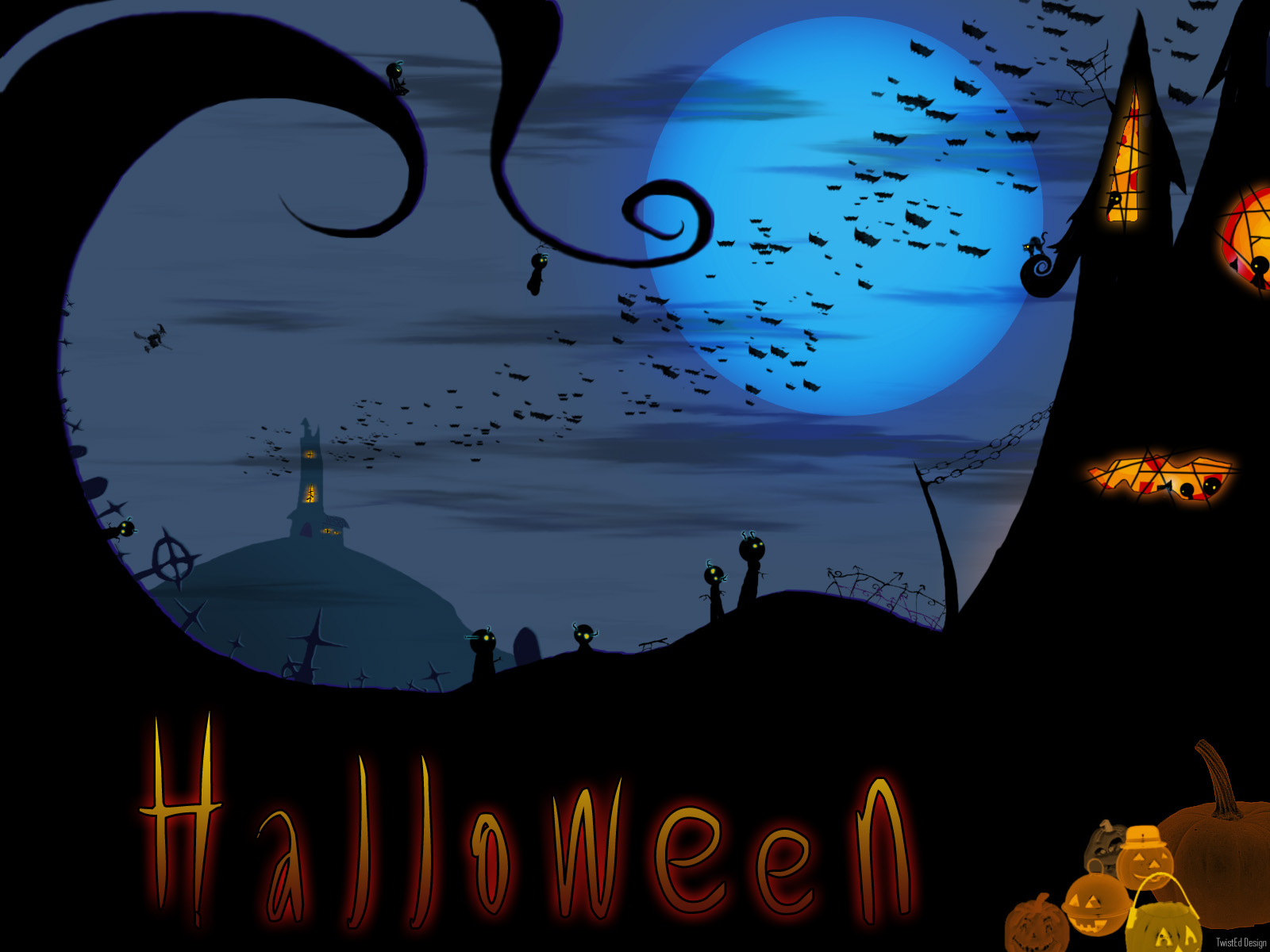 30 Free Halloween Desktop Wallpapers | Best Design Options
