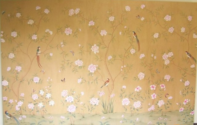 handpainted silk wallpaper   Asian   Wallpaper   other metro   by 640x406