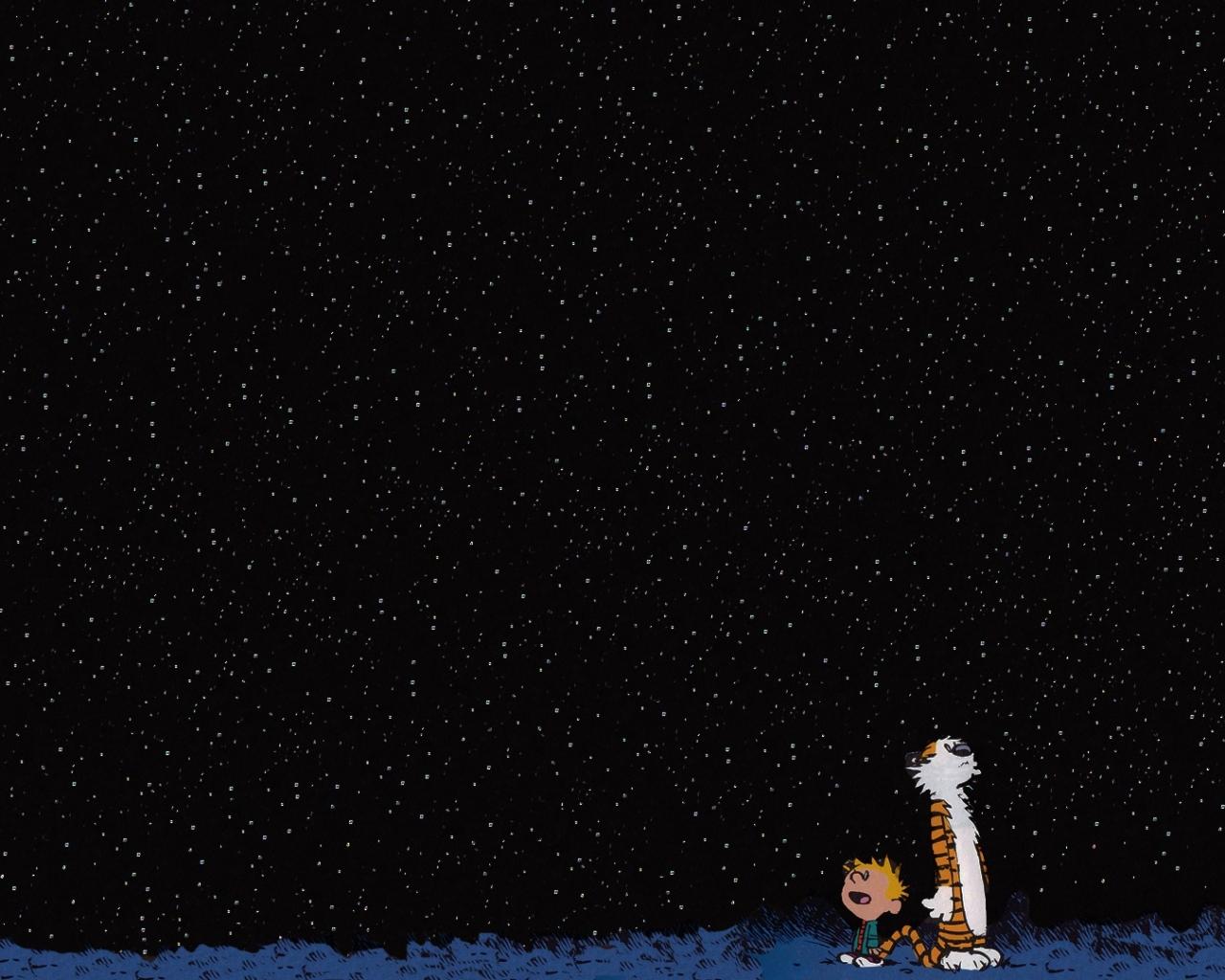 46 Calvin And Hobbes Stars Wallpaper On Wallpapersafari