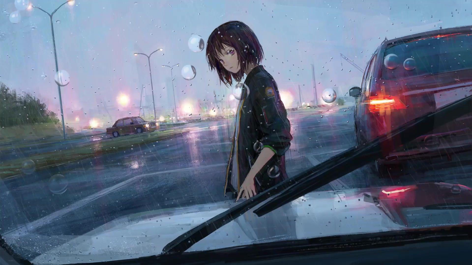 Free download Rainfall Girl Anime Live Wallpaper ...