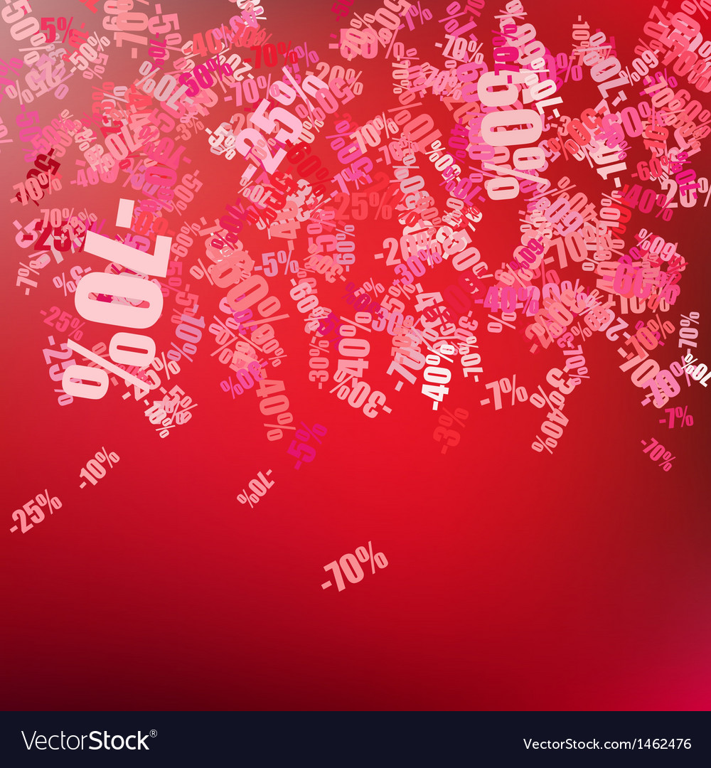Sale background with percent discount pattern EPS Vector Image 1000x1080