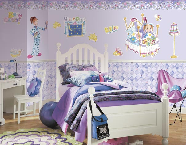 Wallpaper Girls Room And tweens girls rooms 605x473