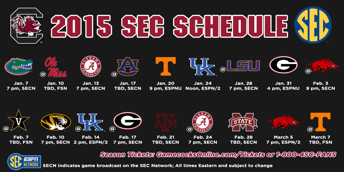 Southeastern Conference Releases 2015 Mens Basketball League Schedule 1200x600