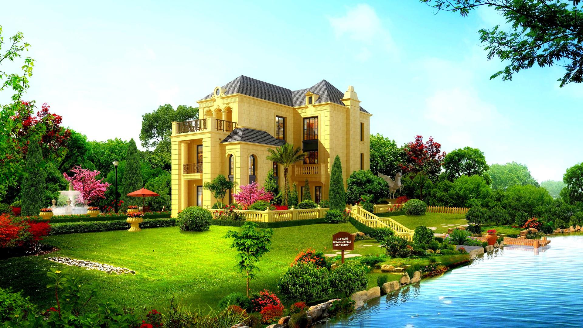 Beautiful house wallpaper 10490 PC en 1920x1080