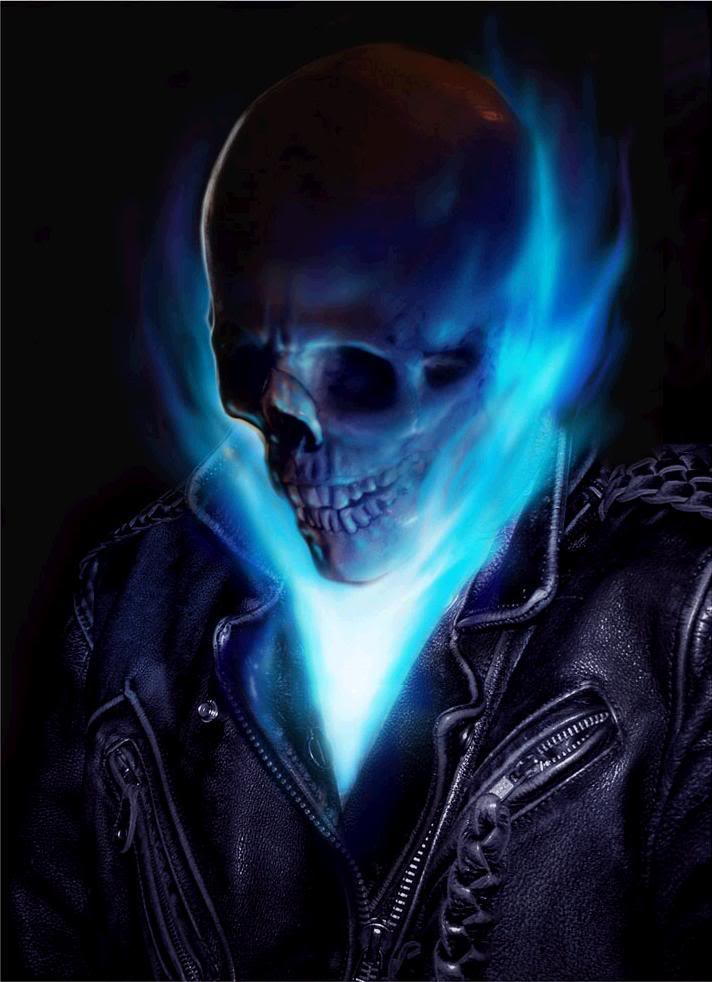 ghost rider blue flames Image 712x982