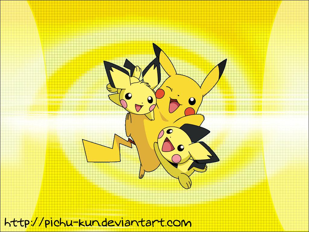 Wallpaper Pichu Pikachu by pichu kun 1024x768