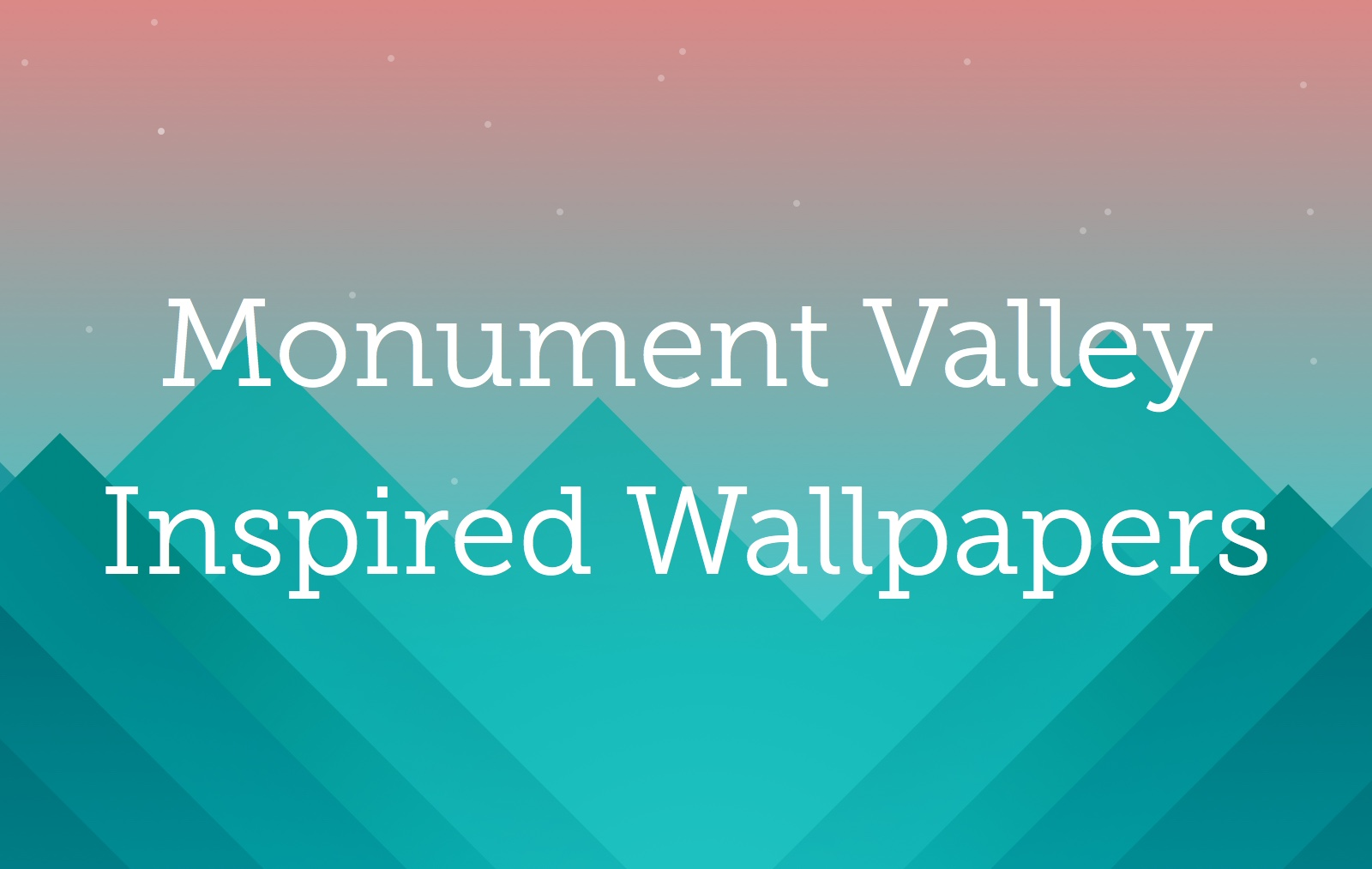 Monument Valley Game Wallpaper