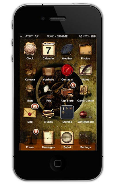 iPhone4 SteampunkWinterHDjpg 404x640