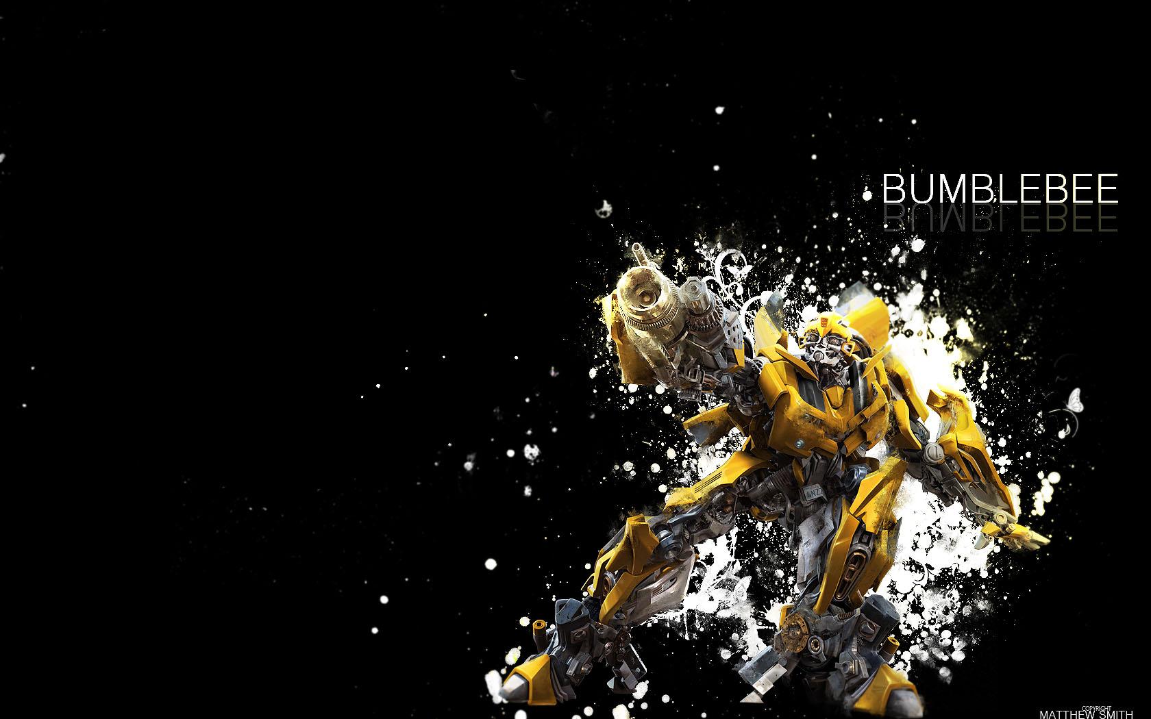 bumblebee wallpaper 2 1680x050 by unique2892 fan art wallpaper movies 1680x1050
