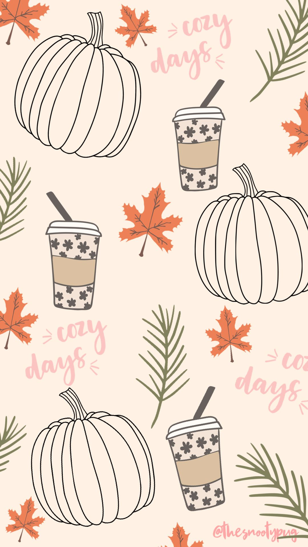 Fall trendy cute iPhone wallpaper background in 2020 Fall 1080x1920