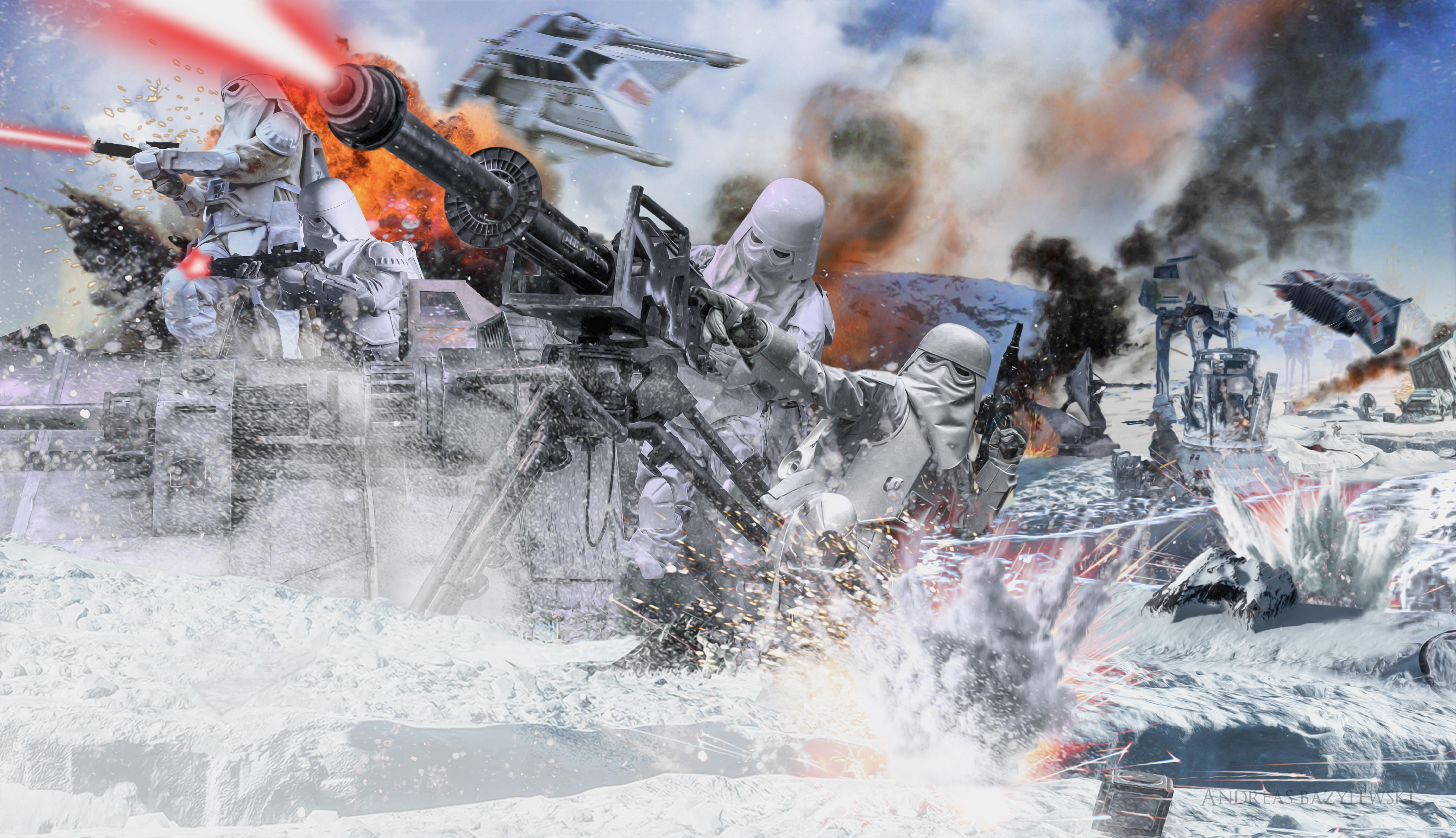 Star Wars   Battle of Hoth 5k Retina Ultra HD Wallpaper 7511x4321