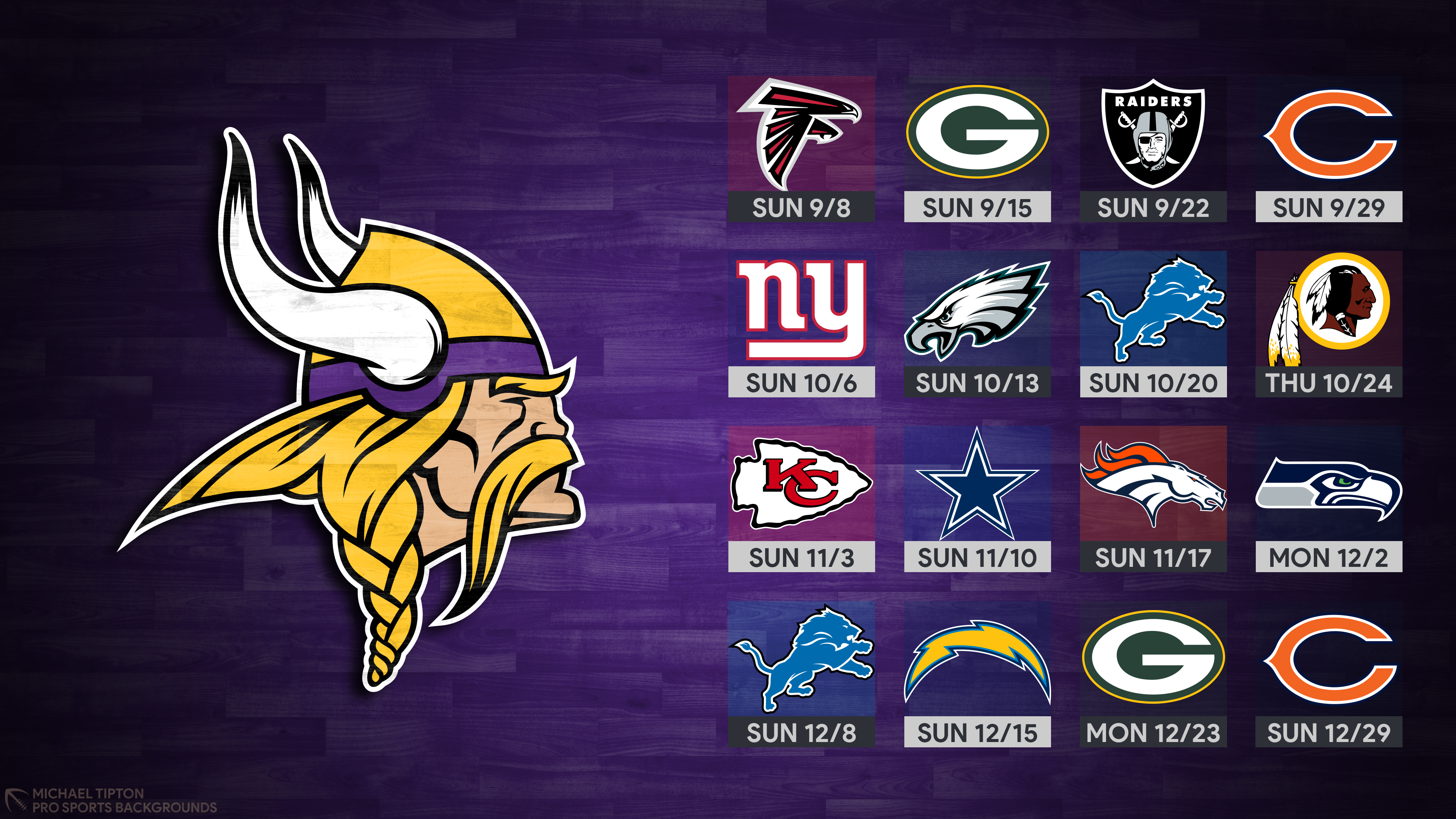 2019 Minnesota Vikings Wallpapers Pro Sports Backgrounds 3840x2160