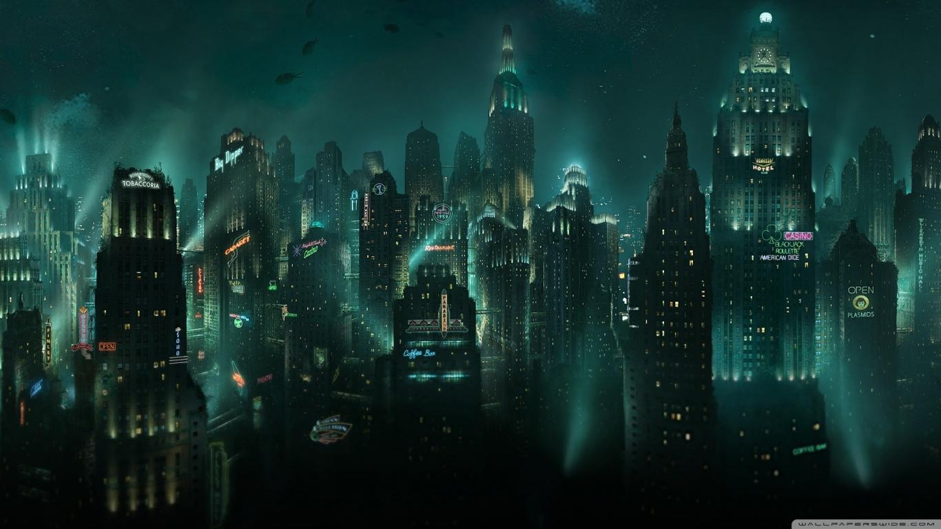 BioShock Rapture 4K HD Desktop Wallpaper for 4K Ultra HD TV 1366x768