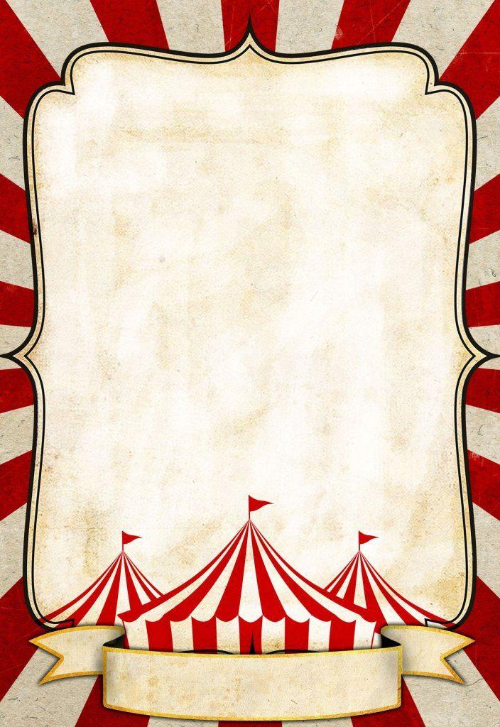 Vintage Circus Poster Template Layered Customizable 704x1024