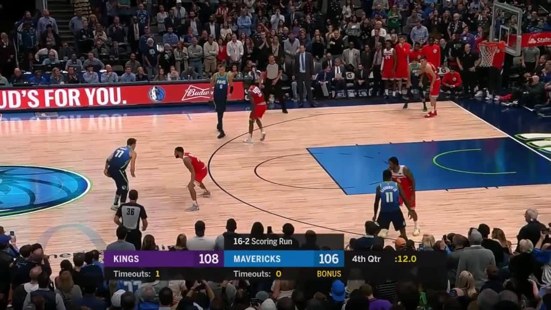 Luka Doncic with an Important Miss vs Sacramento Kings in the 1920x1080