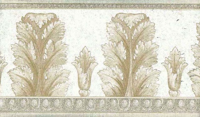 Tan Molding Wallpaper Border Roll traditional wallpaper 640x376