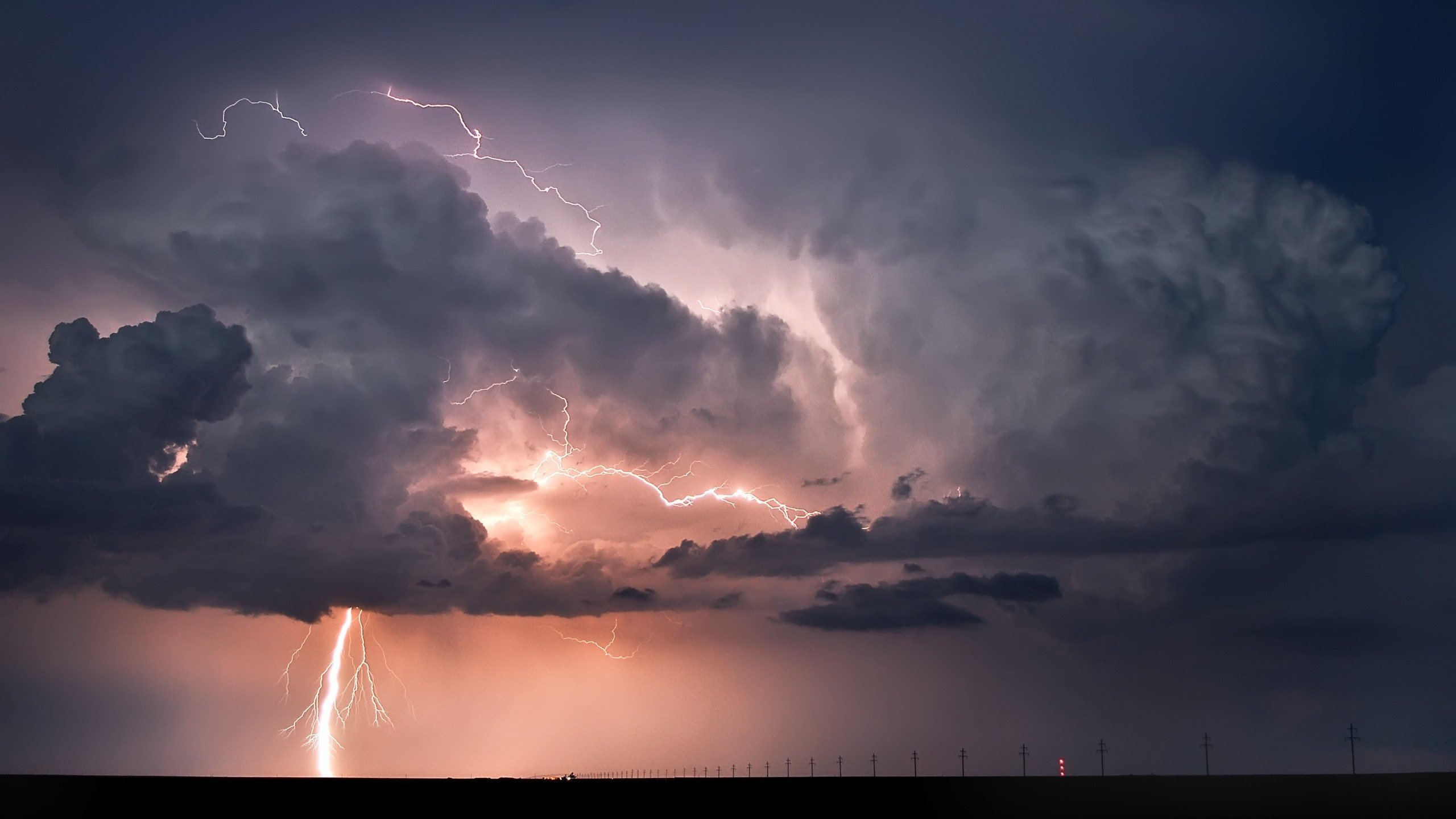thunderstorm lightning 2560x1440 Wallpapers HD Widescreen Desktop 2560x1440