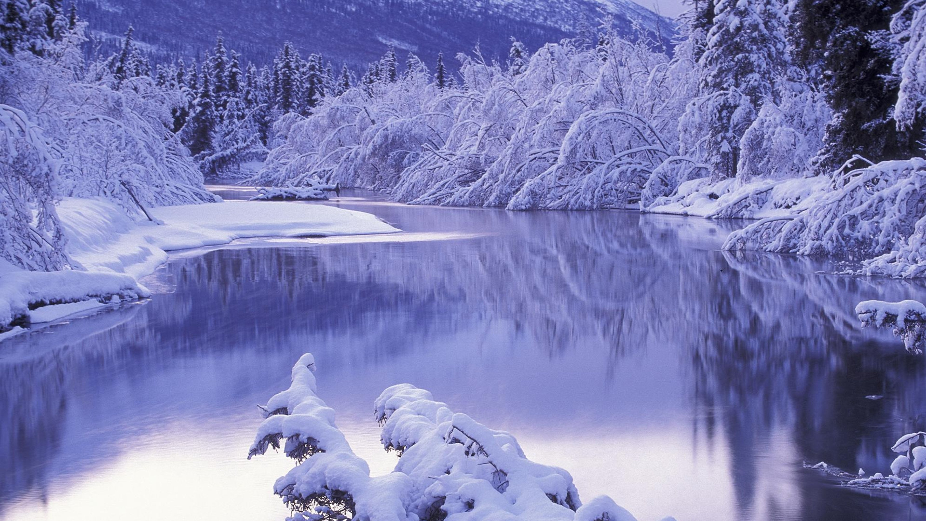 4k winter wallpaper wallpapersafari Beautiful snowfall pictures
