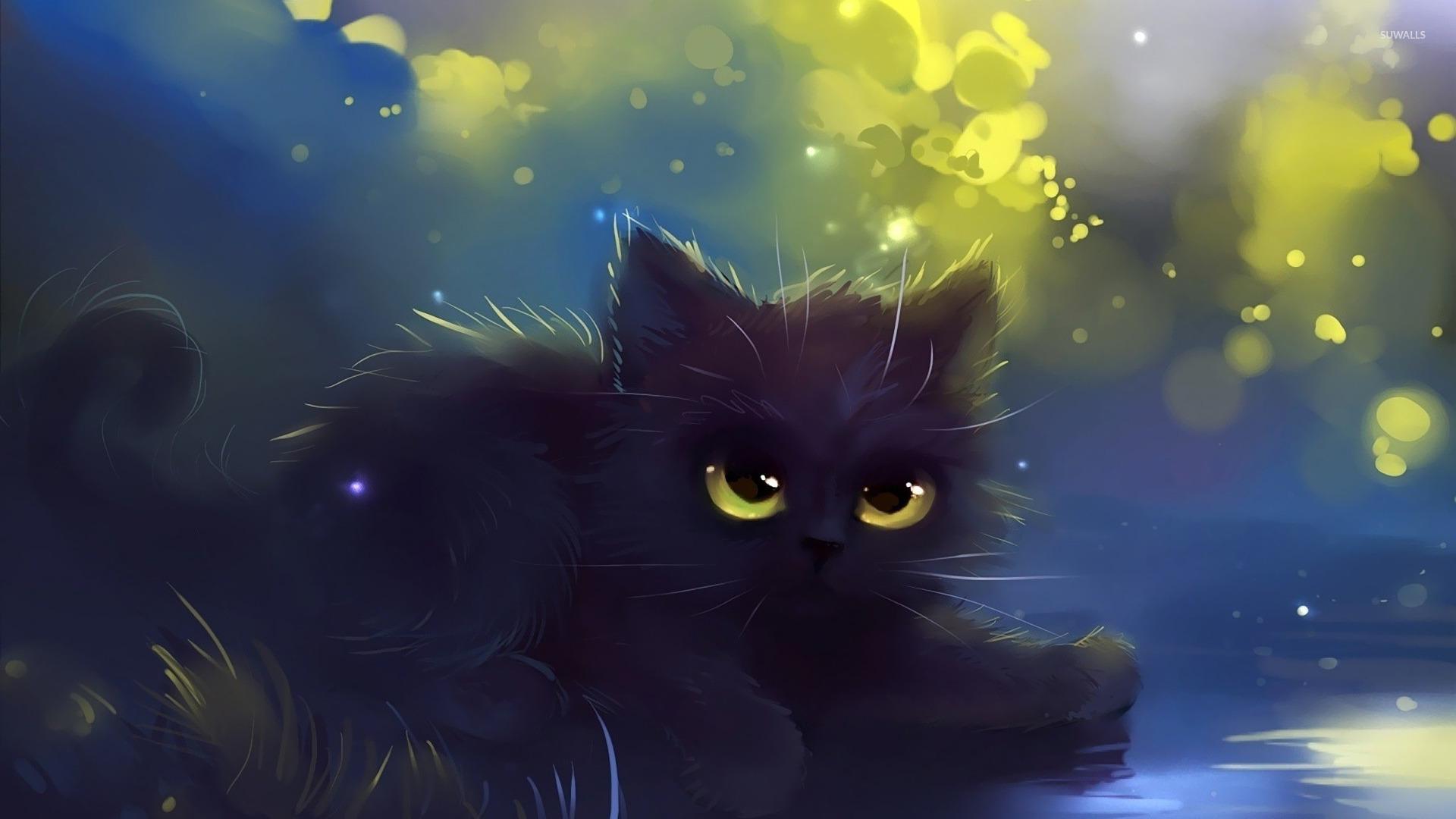 Google themes kittens - Black Kitten Wallpaper Artistic Wallpapers 20065