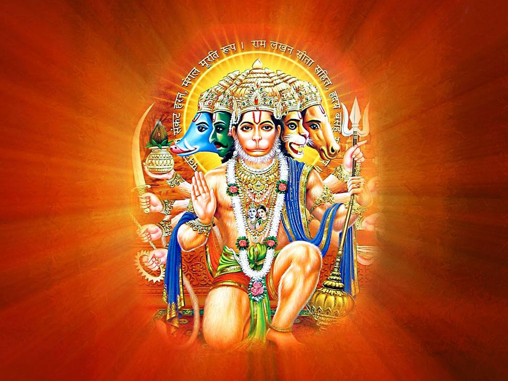 Panchmukhi Hanuman HD Wallpapers 1024x768