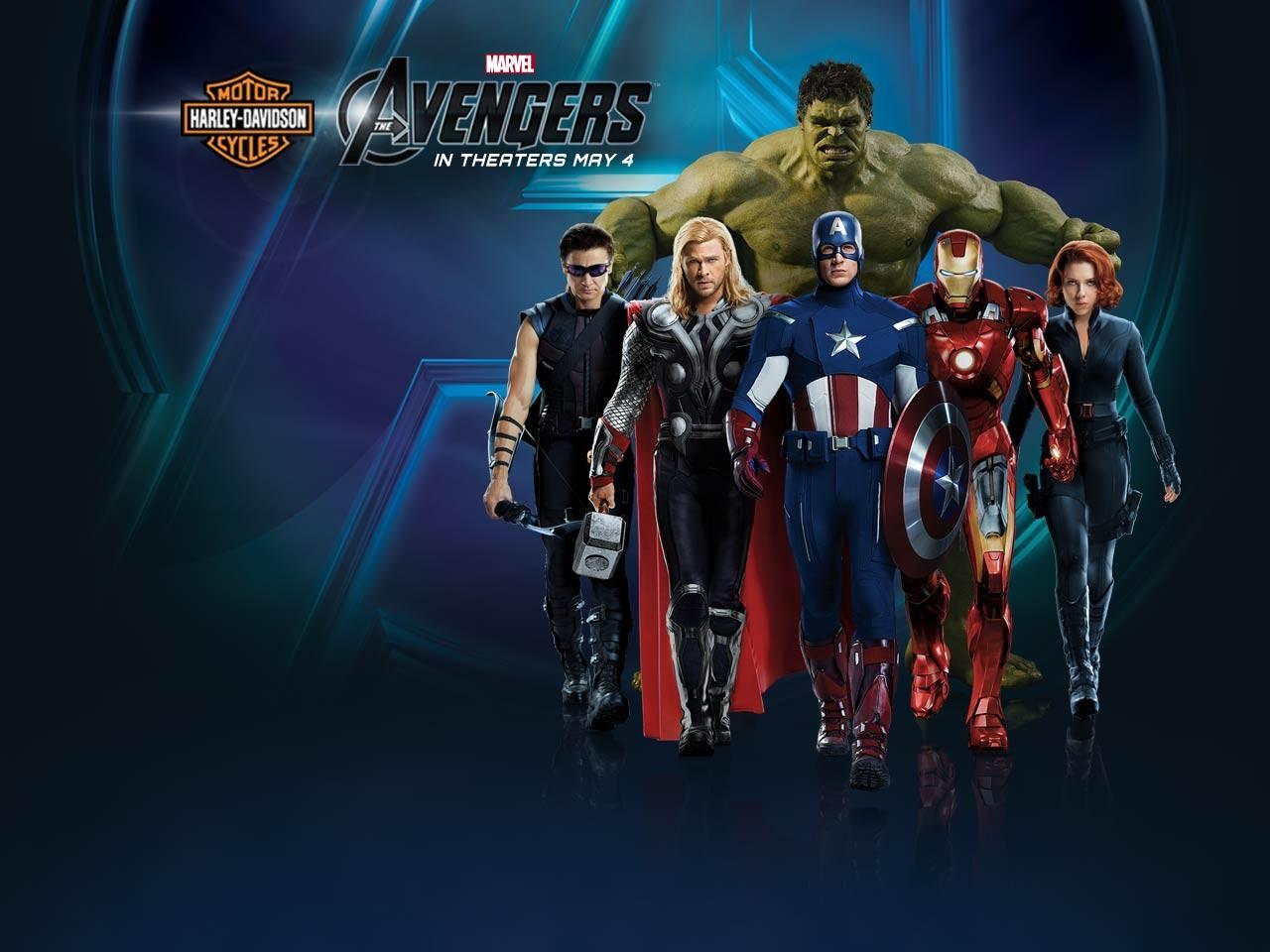 The Avengers Harley Davidson Wallpaper   The Avengers Wallpaper 1280x960