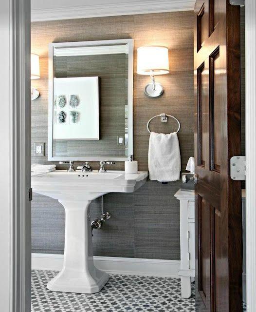 Gray grassclothwow Home Interior Designs Pinterest 526x640