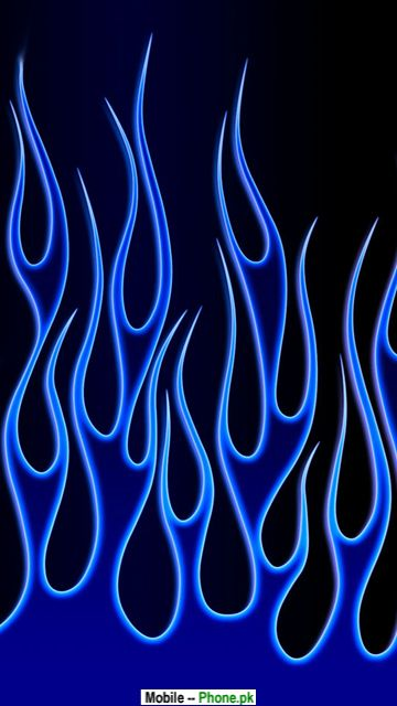 Blue flame Mobile Wallpaper Details 360x640