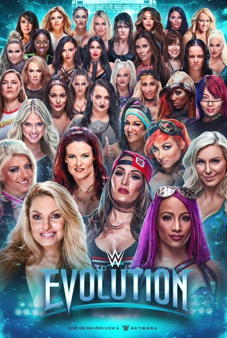 EVOLUTION WWEs 1st ever all Womens Wrestling PPV 736x1093