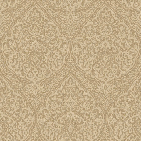 Gold and Beige Framed Damask Wallpaper   Wall Sticker Outlet 600x600