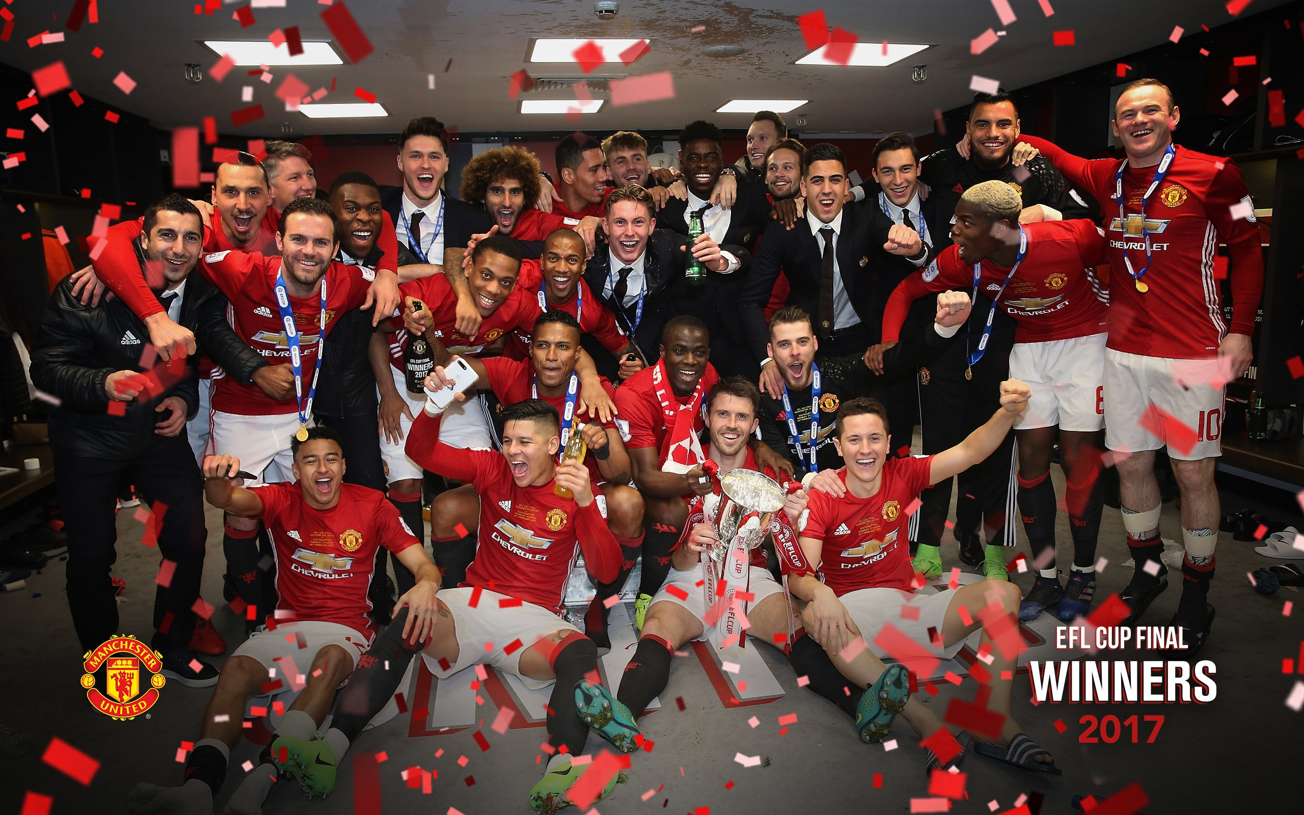 Elegant Wallpaper Of Manchester United 2017 Great Foofball Club 2560x1600