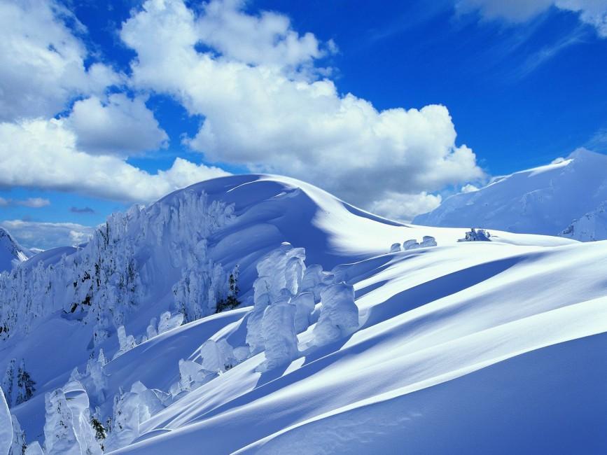 Slope Descent Mountain Snow Winter Snowdrifts   Stock Photos 867x650