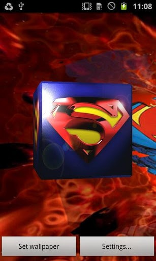 View bigger   Superman 3D Live Wallpaper for Android screenshot 307x512