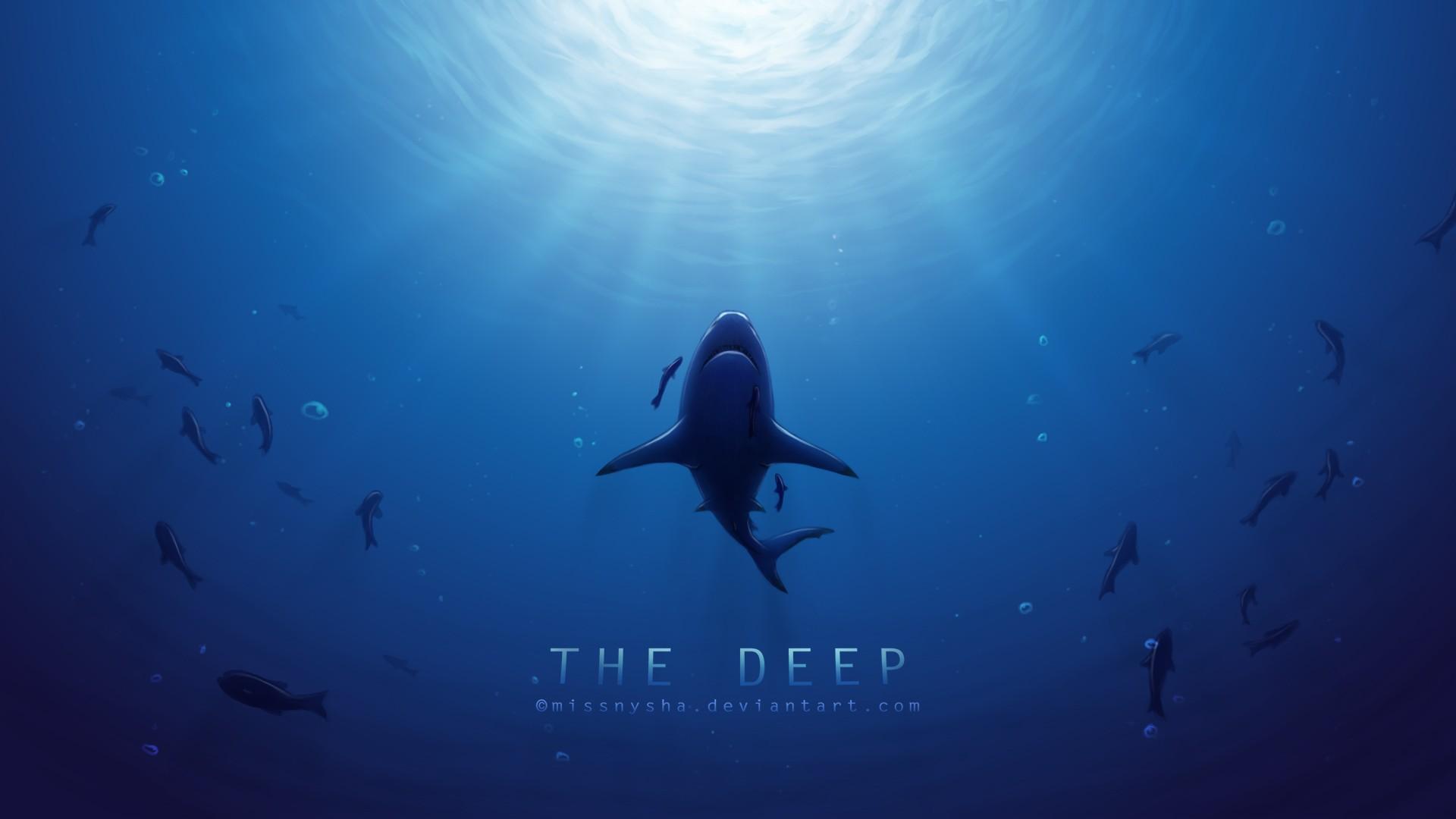 deep sea sharp wallpaper background 1920x1080