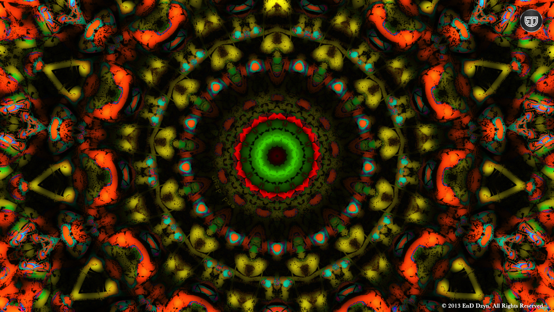Psychedelic HD Wallpaper Background Yellow Orange Trippy 3D 1920x1080