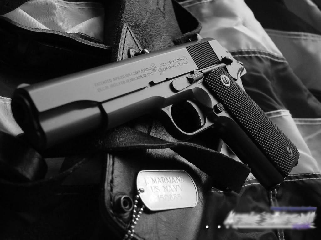 colt m1911 cool wallpaper dual pistols military tanks wallpapers hd 1024x768