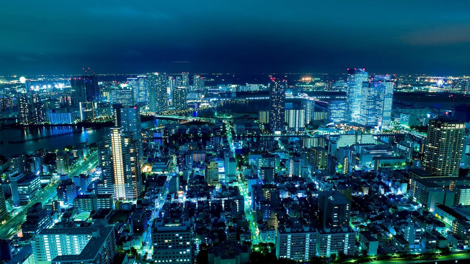 Japan tokyo city lights cityscapes wallpaper 78605 1920x1080