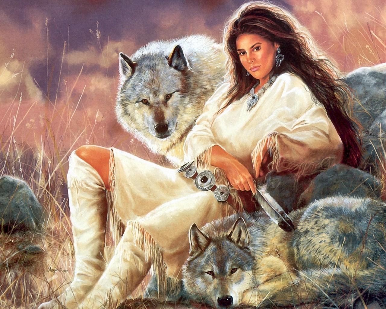 Indian And Wolf Wallpaper Images Wallpapersafari