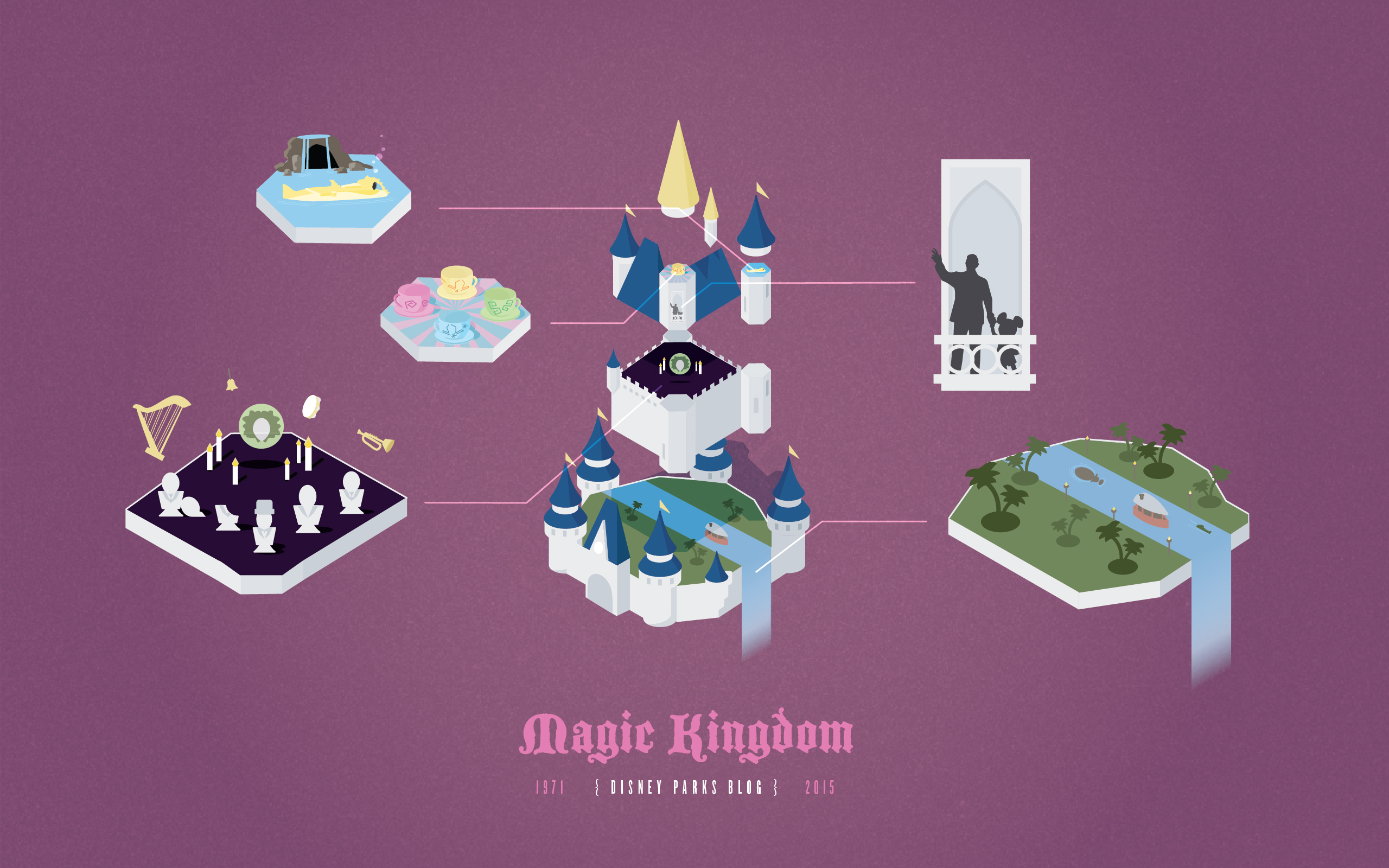 Magic Kingdom Parks Anniversary 2560x1600