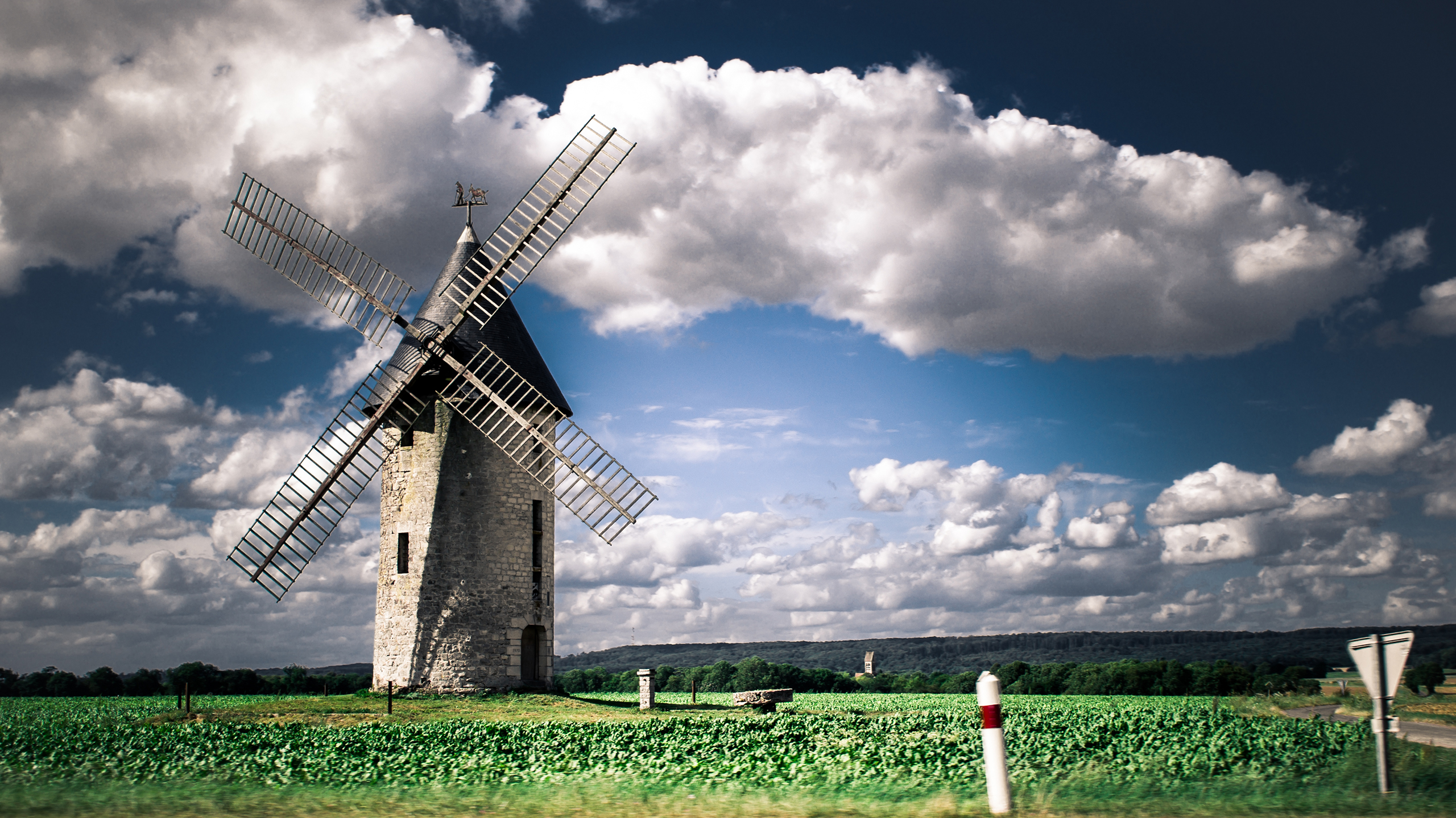 2560x1440 Windmill desktop PC and Mac wallpaper 2560x1440