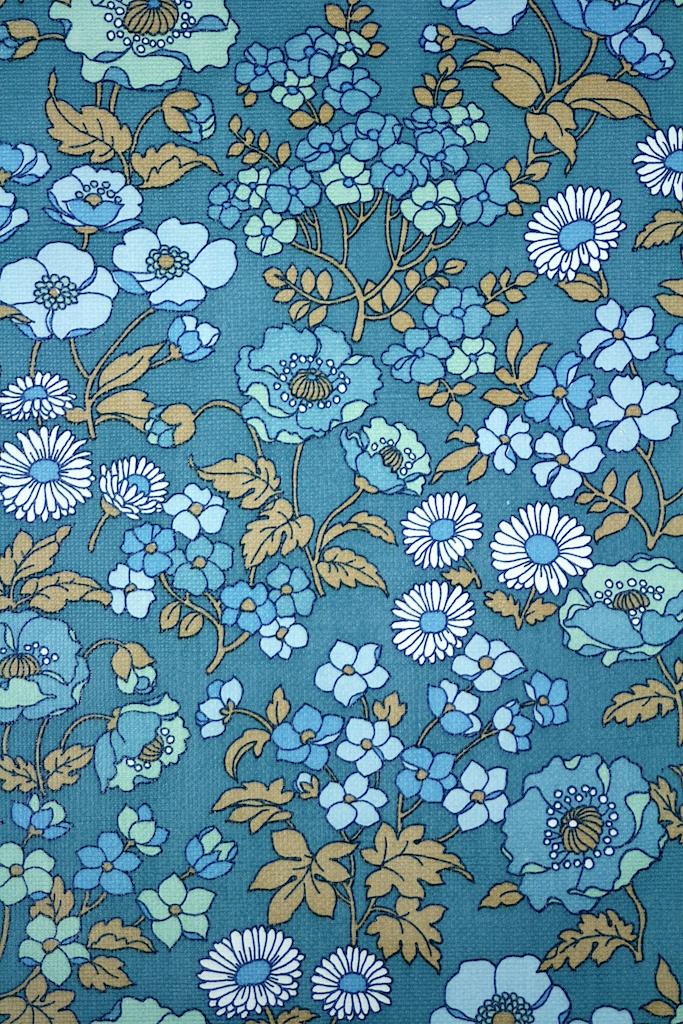 Blue Floral Wallpaper 683x1024
