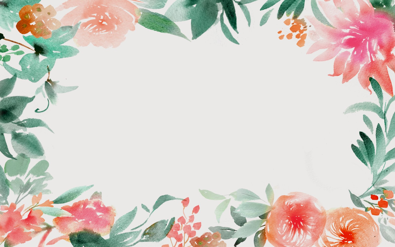 31 Watercolor Floral Wallpaper Border On Wallpapersafari