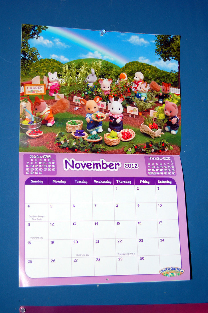 Calico Critters November Calendar by Rogue Ranger 729x1096