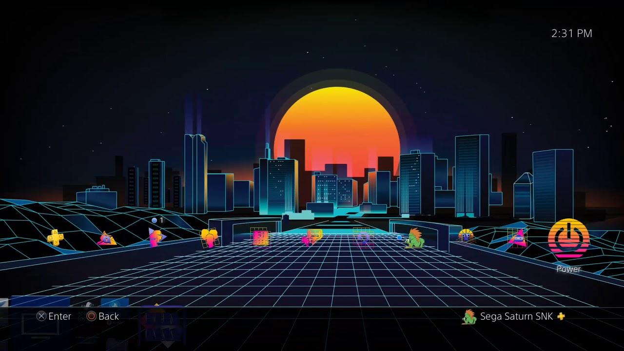 1980s Retro City Theme Playstation 4 1280x720