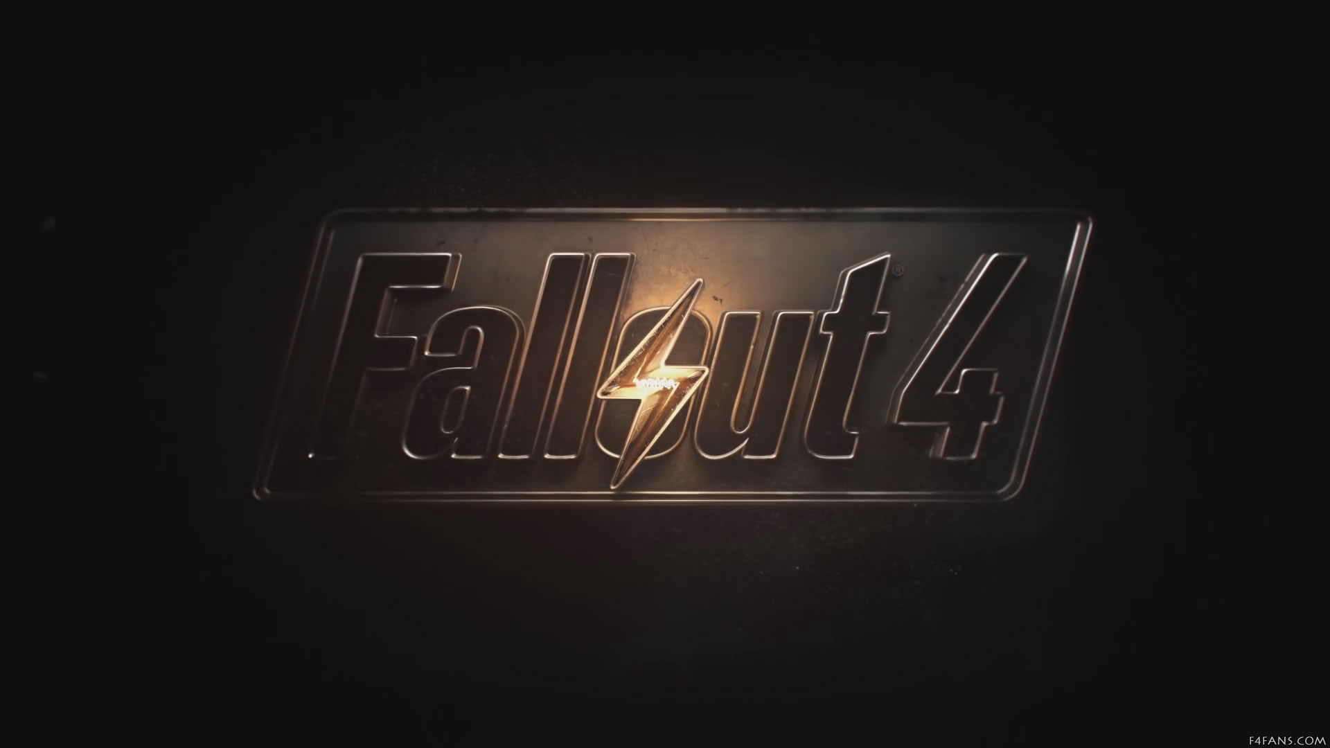 Fallout 4 game logo on a black background taken from the games 1920x1080