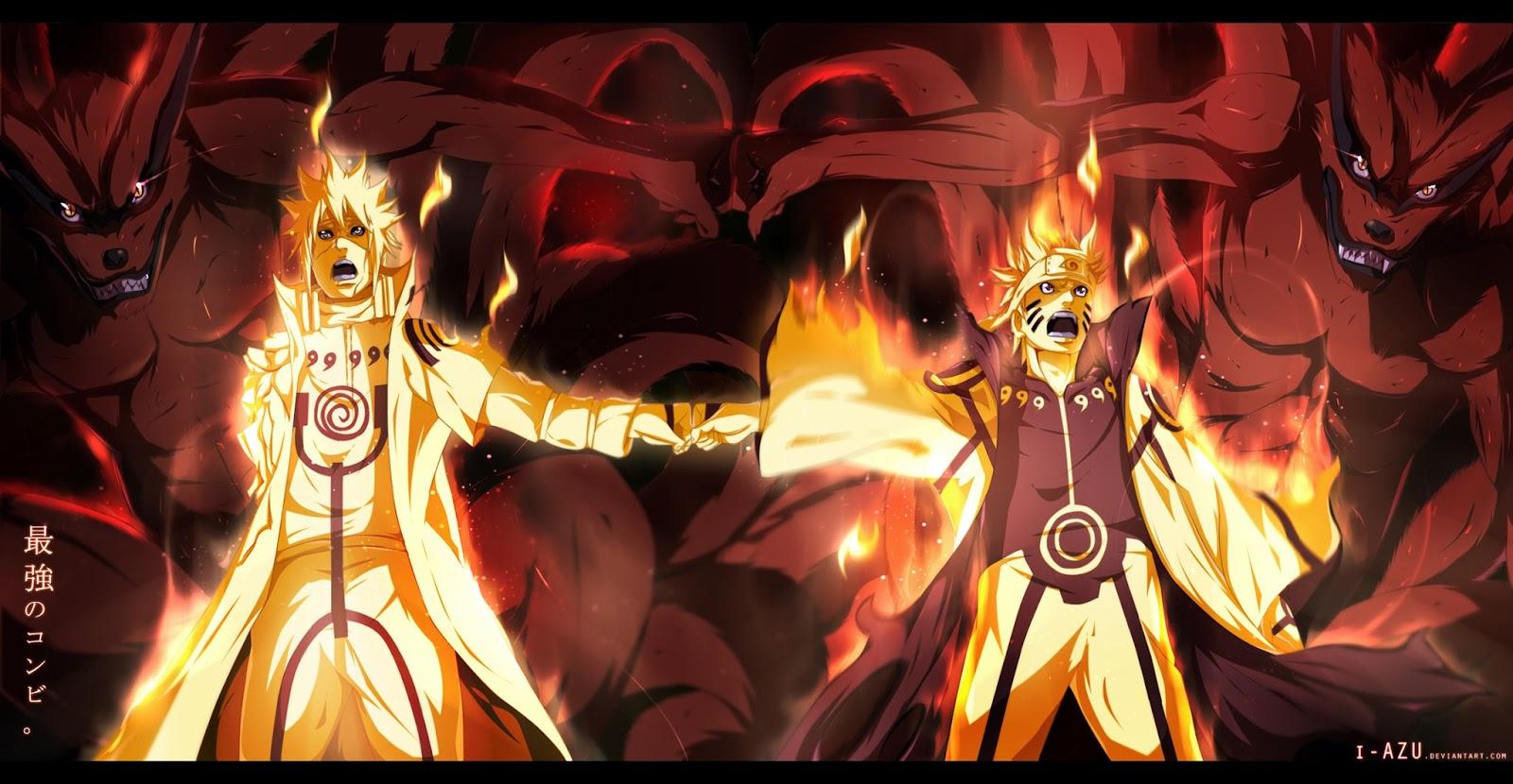 Minato Naruto Kyuubi Deviant Art Widescreen Anime HD Wallpaper 1600x830