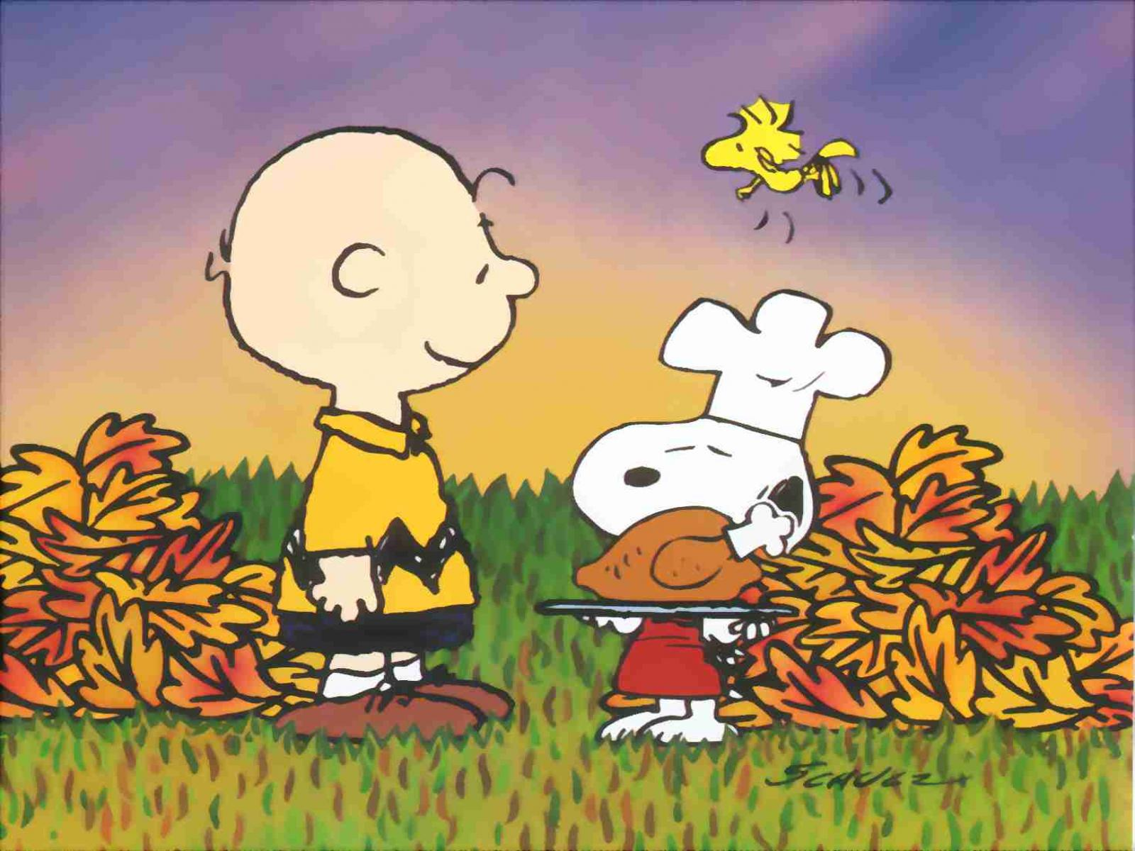 Peanuts Snoopy Charlie Brown Thanksgiving Wallpaper 1600x1200