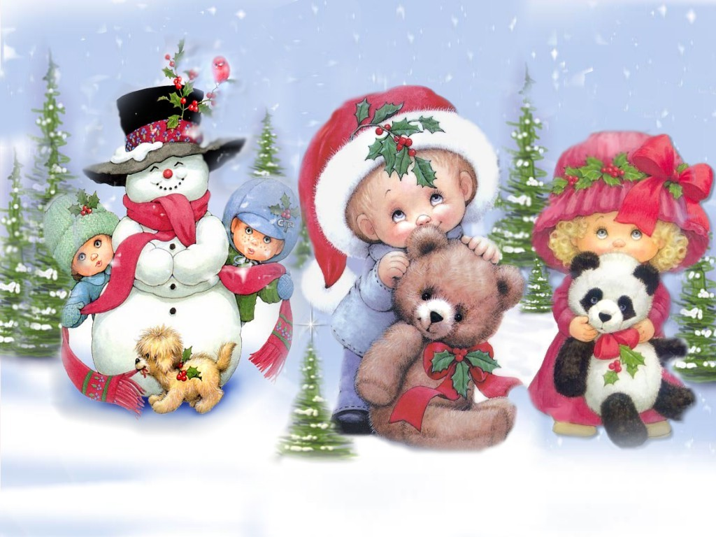 Christmas Wallpapers   Kids Desktop Backgrounds for Christmas and 1024x768
