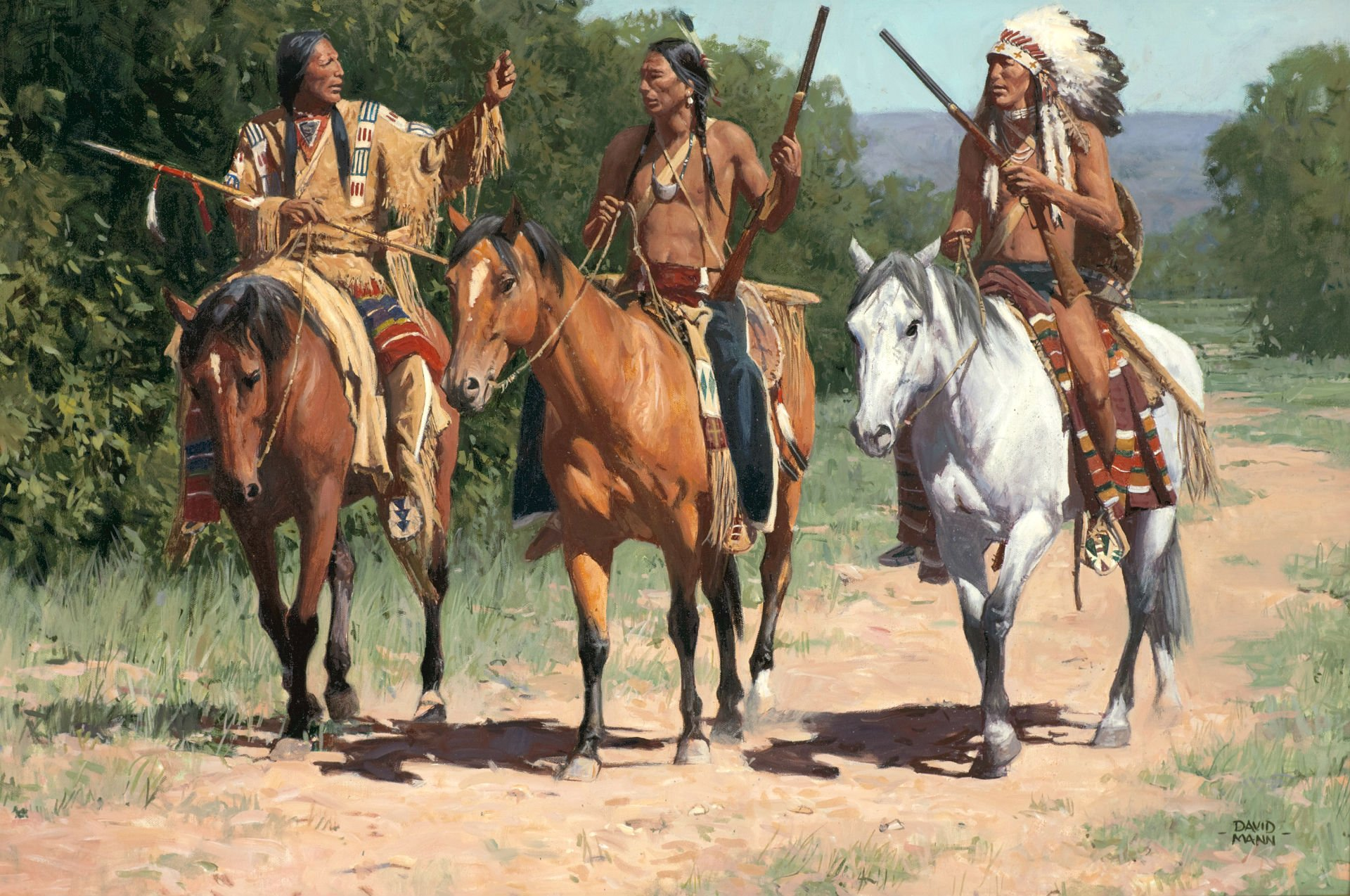 Apache Indian Horse Painting 1920x1274