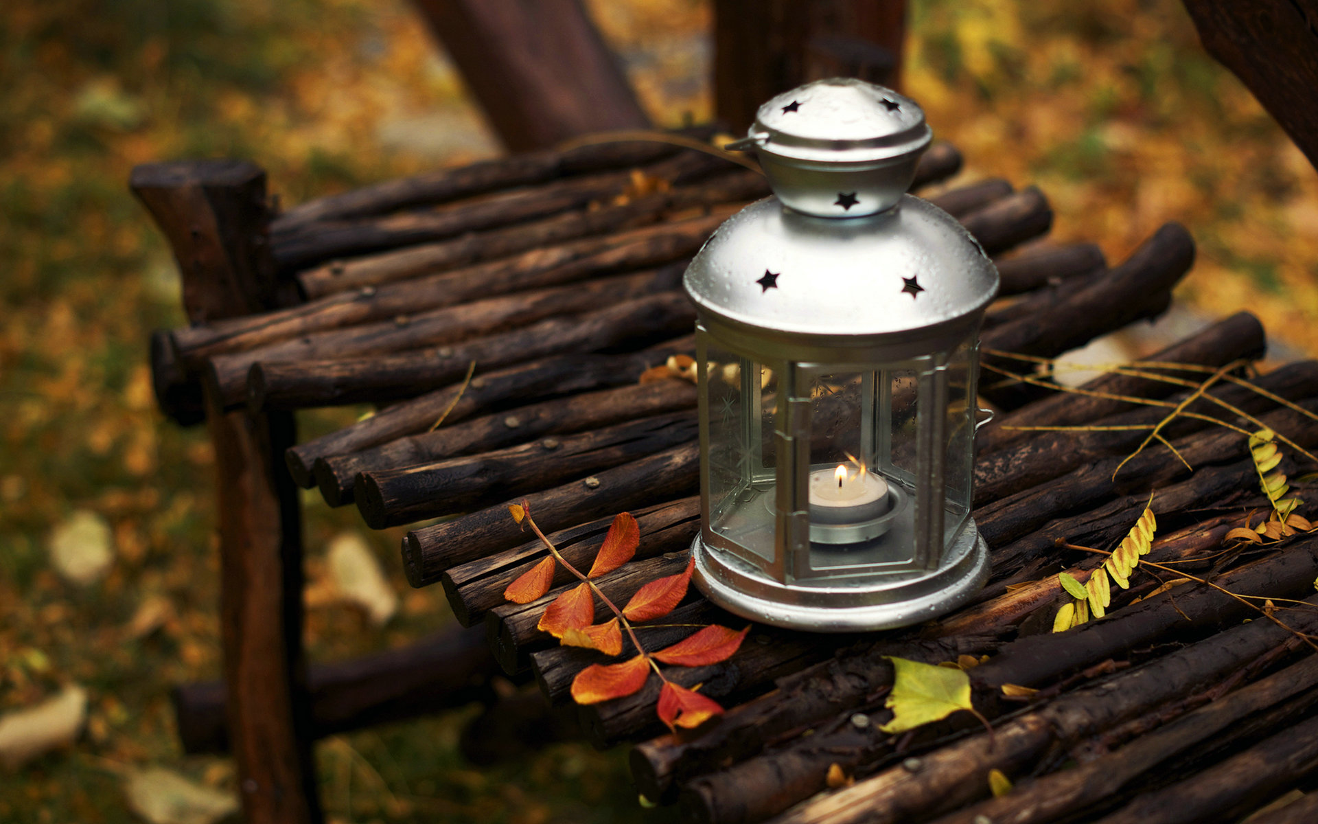Autumn Candles - Photography & Abstract Background ... |Fall Candles Background